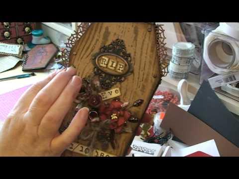 halloween paper coffin part 2 - Tim Holtz - texture fades.mpg