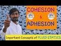 HINDI COHESION ADHESION RELATION WITH VISCOSITY CAPILLARITY WETTING CHARACTERISTICS mp3