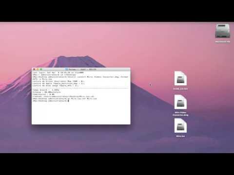 Comment Convertir un DMG en ISO avec Terminal.app (commenté en français)