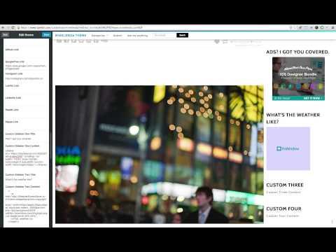 Sidebar Options and Customisation for Minelienda Tumblr Theme
