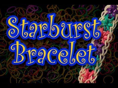 How to make a Rainbow Loom Starburst Bracelet HD