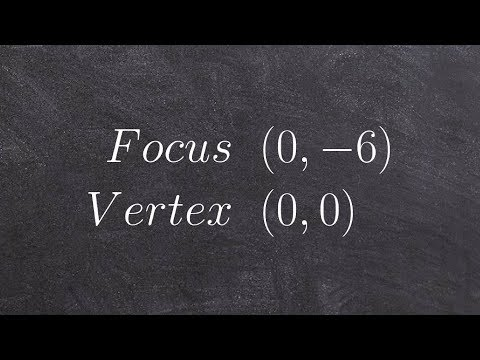 How to write the formula for a parabola given the focus and vertex and the origin