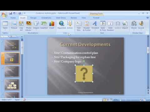 PowerPoint 2007 Demo: Assign an action to a button or picture in your presentation