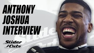 Anthony Joshua In The Barber Chair with SliderCuts