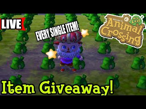 🔴 Item Giveaway - Every Item in One Town! | Animal Crossing New Leaf