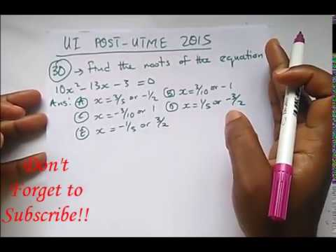 UI Post UTME Past Questions Solved Part 3 (2015) - University of Ibadan