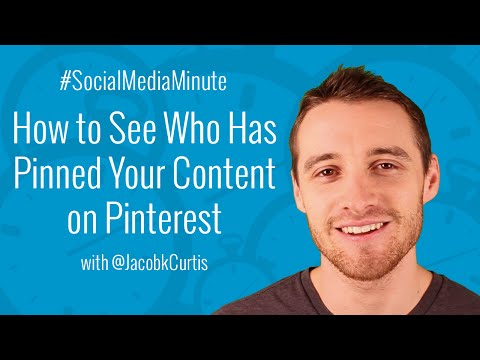 [HD] How to See Who has Pinned Your Website Content on Pinterest - #SocialMediaMinute