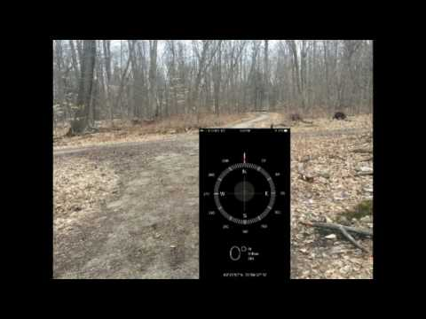 Using the iPhone Apps of Compass and Map together