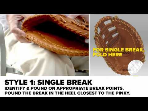 Breaking in a First Baseman Baseball Mitt