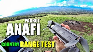 Drone Parrot Anafi in real FCC in urban area in Europe
