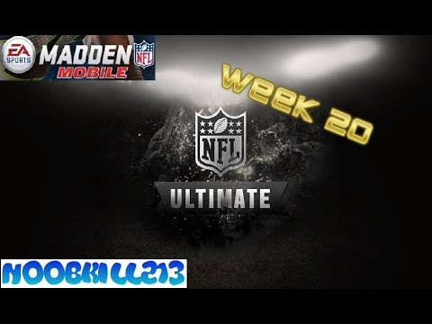 Madden Mobile Ultimate Legends Week 20!!