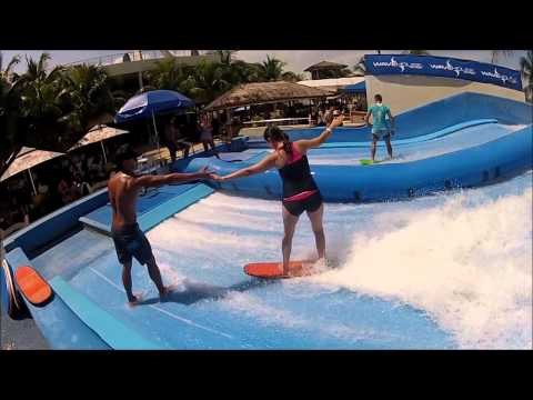Learning to surf @ Wave House Sentosa