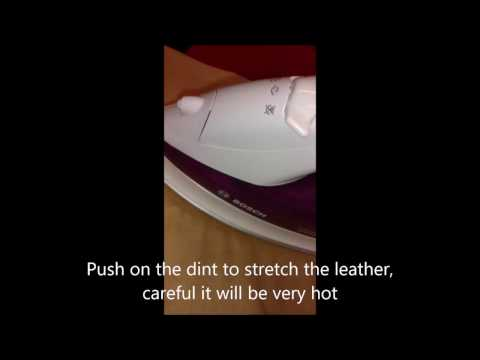 How to easily remove dints, marks creases in leather & faux leather