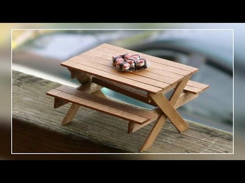DIY- Popsicle Stick Miniature Table | Enjoy Crafting # 37