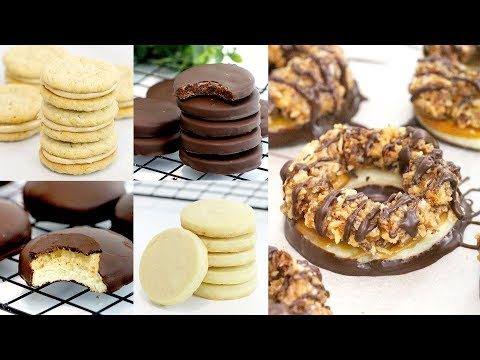 5 DIY Girl Scout Cookie Recipes   Samoas, Tagalongs, Do-Si-Dos, Thin Mints & Trefoils   RECIPE