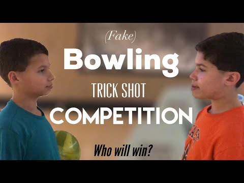 (fake) BEST BOWLING TRICK SHOT COMPETITION!! - The Random Bros