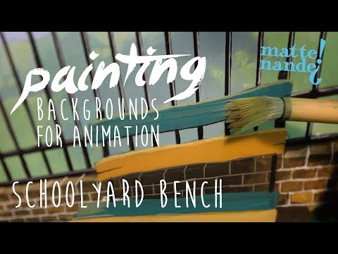 Schoolyard Bench | Painting Backgrounds for Animation #01