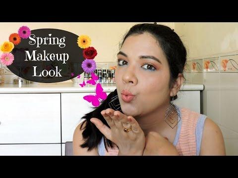 Spring Makeup Tutorial   Pop of color   beautywithsneha