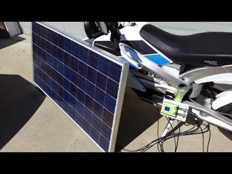 Electric Motorcycle Charged Directly with Solar Power