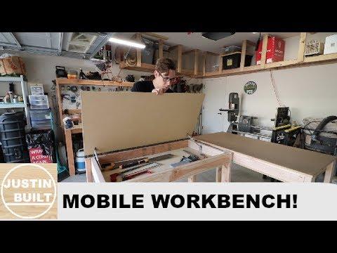 DIY Mobile Workbench With Hidden Storage!