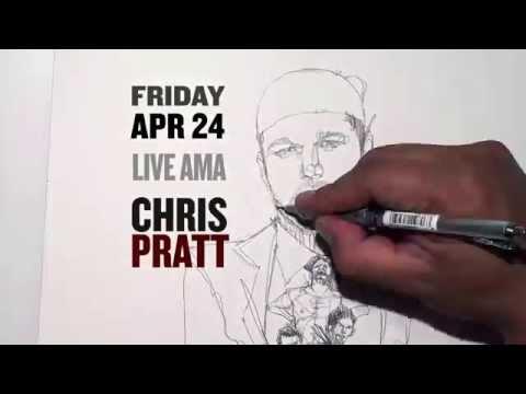 Chris Pratt reddit AMA Portrait Timelapse