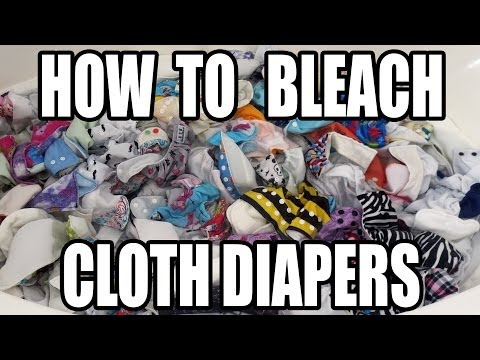 Bleach Soaking Cloth Diapers