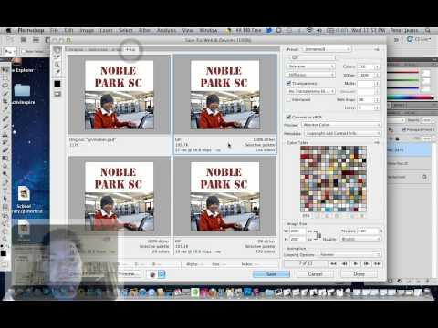 Photoshop CS5- export animation as GIF (1:35 sec)
