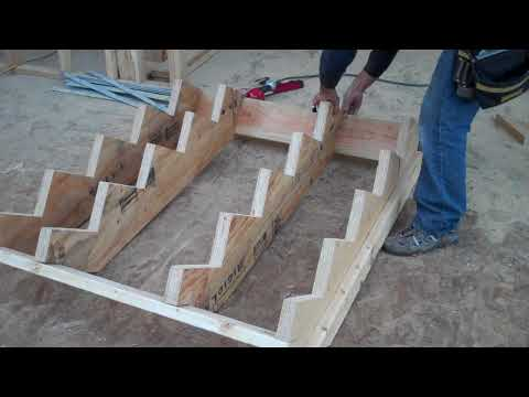 How to calculate, layout and  build stairs- Part 3 of 3