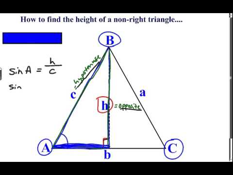 Khan Academy Talent Search -Find the height of a non right triangle