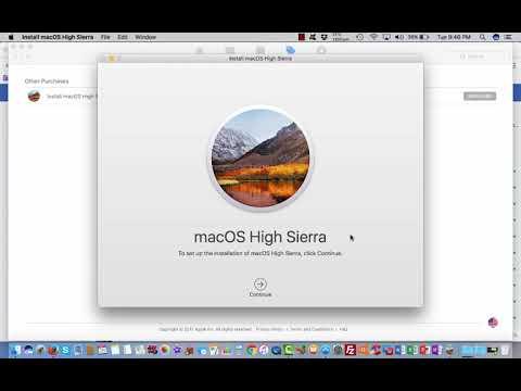 Upgrading From macOS Sierra (10.12) to High Sierra (10.13)
