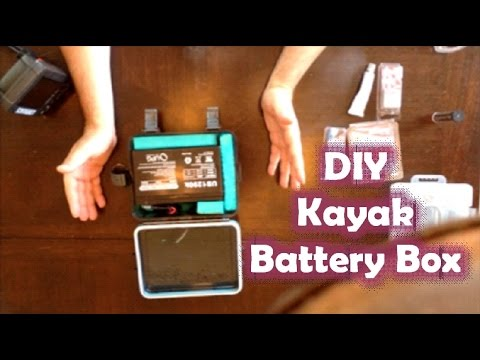 How To Make a Fish Finder Waterproof 12v Battery Box