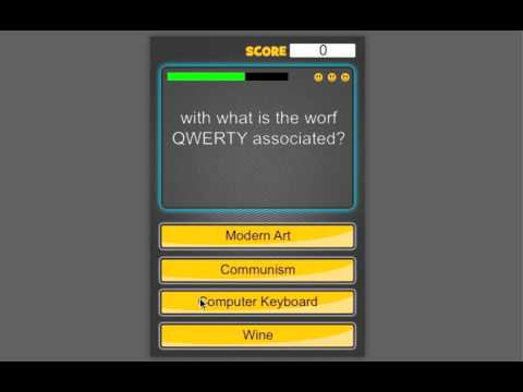 Trivia Quiz Template for gamesalad