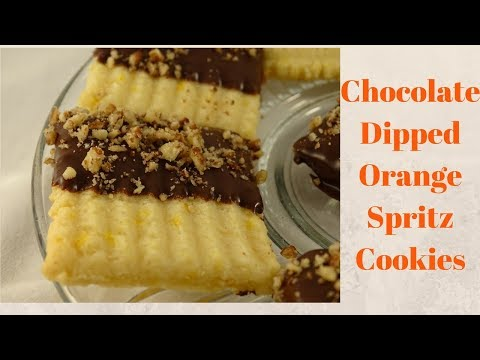 Chocolate-Dipped Orange Spritz- with yoyomax12