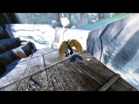 GW2 Golden Feather Wings Backpack Shininess