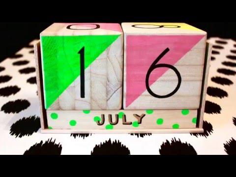 Perpetual Wood Block Calendar