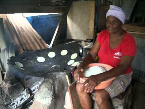 Traditional Grenadian Cassava Bread  - St. David, Grenada