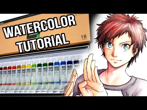 Watercolor Tutorial - How to do a manga-style portrait