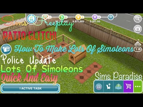 Sims Freeplay | How To Make Lots Of Simoleons | Patio Glitch | Sims Paradise