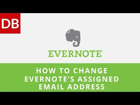How to Change Evernote's Assigned Email Address