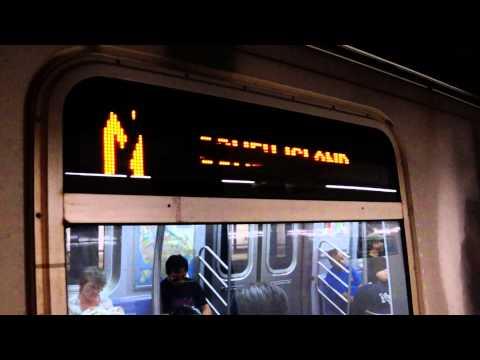 MTA NYC Subway N train at 8th St/NYU