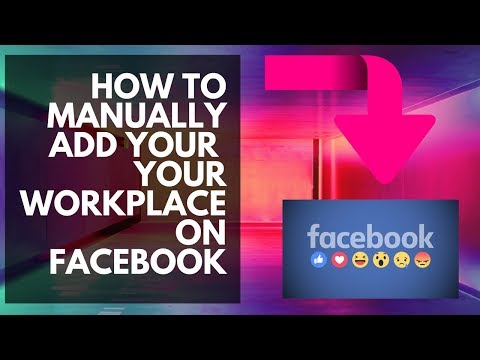 How to manually add your facebook business page to your workplace