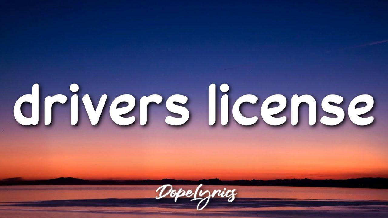 drivers license - Olivia Rodrigo (Lyrics) 🎵