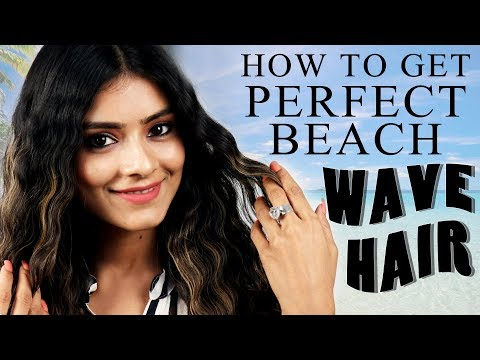 How To Get Perfect Beach Wave Hair | Hair Styling Tutorial | Hair Care Tutorial | Foxy Makeup