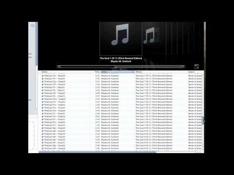 How to create an Audiobook from CDs or MP3s with iTunes