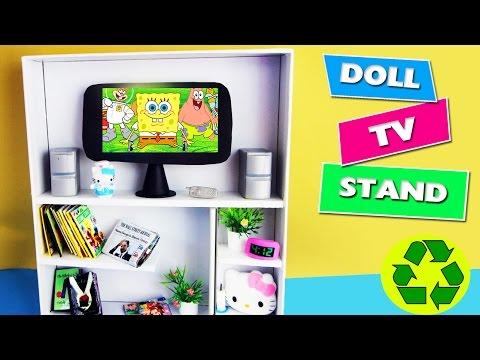 DIY | Doll TV Stand / Bookcase - simplekidscrafts