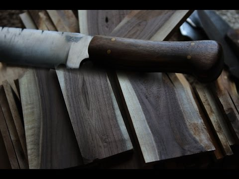 How to prepare and dry wood from tree to knife handle!