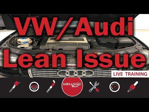 VW / Audi 2.0L Turbo - System Too Lean Diagnosis & Repair P0171, P2177