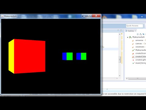 3D Models in Java 3D: Beginners Only_1 Color Cube and Coordinate Systems (with Source Code)