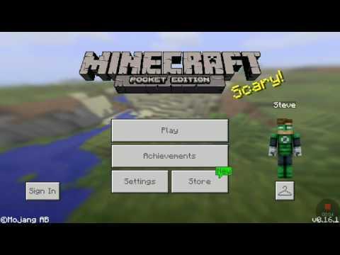 FIRST VIDEO!!! W/ MINECRAFT PE GAMEPLAY/GREEN LANTERN!!