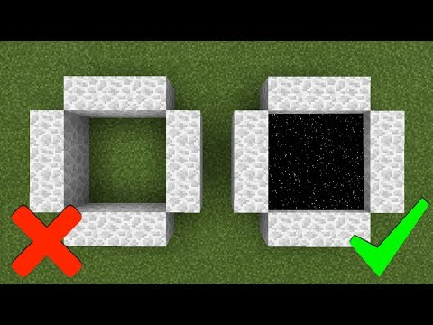 How To Make a Moon Portal in Minecraft (Pocket Edition, PC, Xbox, PS4/3, Switch)